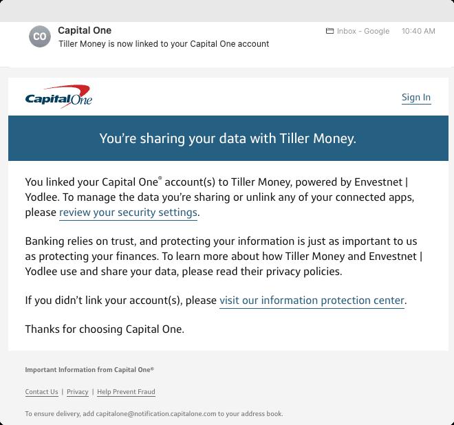 Capital One OAuth